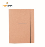 Kraft Paper Material 3 Flap A4 File Folder With Elastic Straps A4 Size