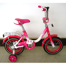 Pink steel folding kid mini bike