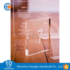 Clear acrylic wedding numbers and names table block with engraving