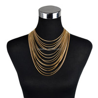 Fashion latest gold necklace chain model Wholesale NS-72