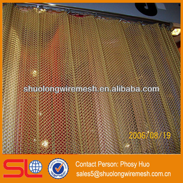 2013 new style!Decorative metal mesh curtain fabric,beautiful partition,illuminated room divider