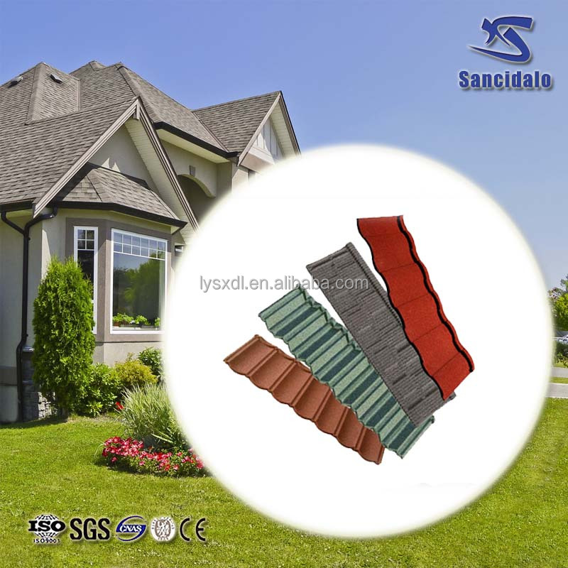 Fiberglass Asphalt shingle Plain Roof Tiles Type