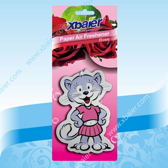 kartoon paper air freshener