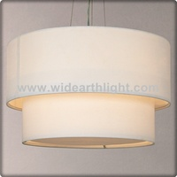 UL CUL Listed 3 Light Two Shades Hotel Fabric Pendant Lamp With Cord Hang C30199