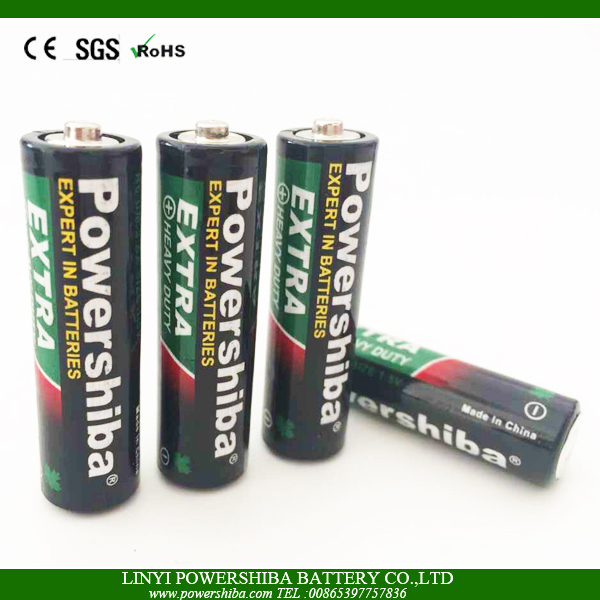 Size AA R6P Carbon Zinc 1.5V Battery