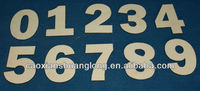 new designed CNC carved wooden figure letters for crafts for wholesale