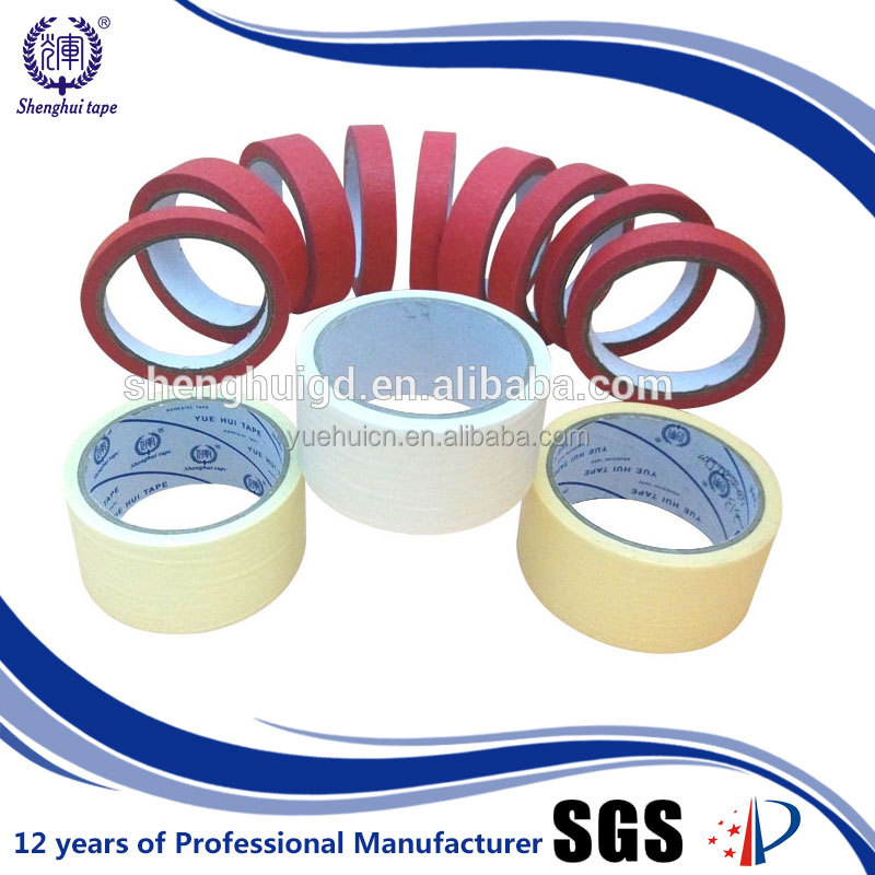 Iso & Sgs 36Mm X 50Y Crepe Paper Rubber Masking Tape Roll