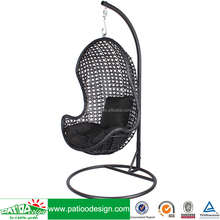 Cheap garden wicker swing egg shaped hanging rattan chair