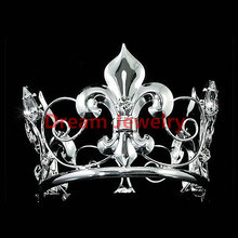 Men Crown Wholesale Baby Mini Crown / Flower Boy Crystal Full Circle Round Tiara