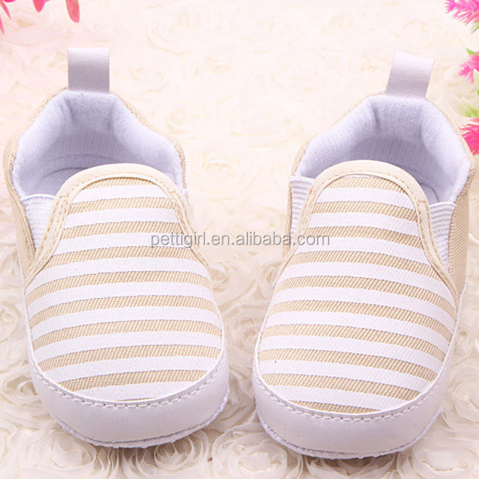 2016 Fashion Baby Shoes White And Navy Striped Cotton Kids Shoes For Toddler Wear Ready Stock KS40819-16