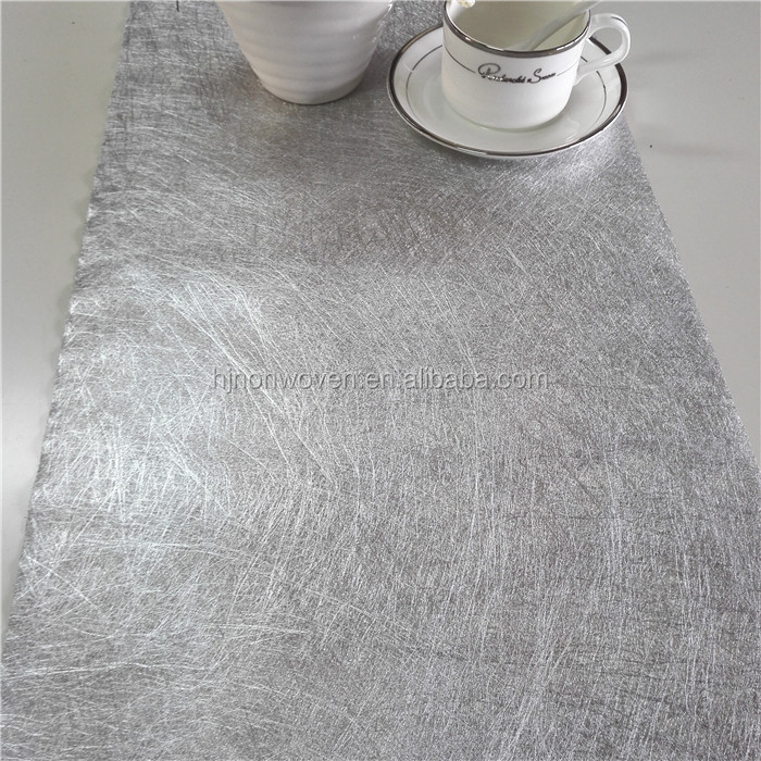 popular sliver wedding glitter table runner for wedding table runners