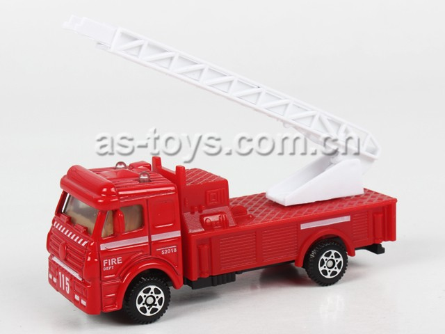 best selling 1:72 free wheel die cast fire die cast toy cars with super quality