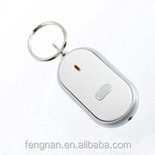 En stock anti-lost Electronic smart Key ring finder locator whistling shouting to flash alarm logo customized controlled by soun