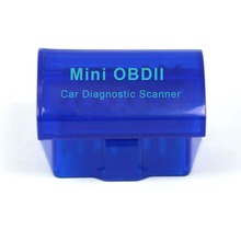 Blue MINI OBD ii ELM327 Bluetooth Latest V2.1 OBD 2 / OBD2 Wireless Car Diagnostic Scanner Multi-Language