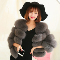 The latest style fox fur coats high quality for women's clothing winter fur coat