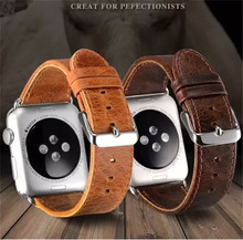 Wholesale Gunuine Leather Wrist Watch Band for Apple watch(38mm/42mm),genuine leather soft watch strap for Apple watch(38mm/42m)
