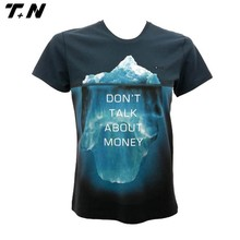 All over sublimation short sleeve t-shirt wholesale full-size printing