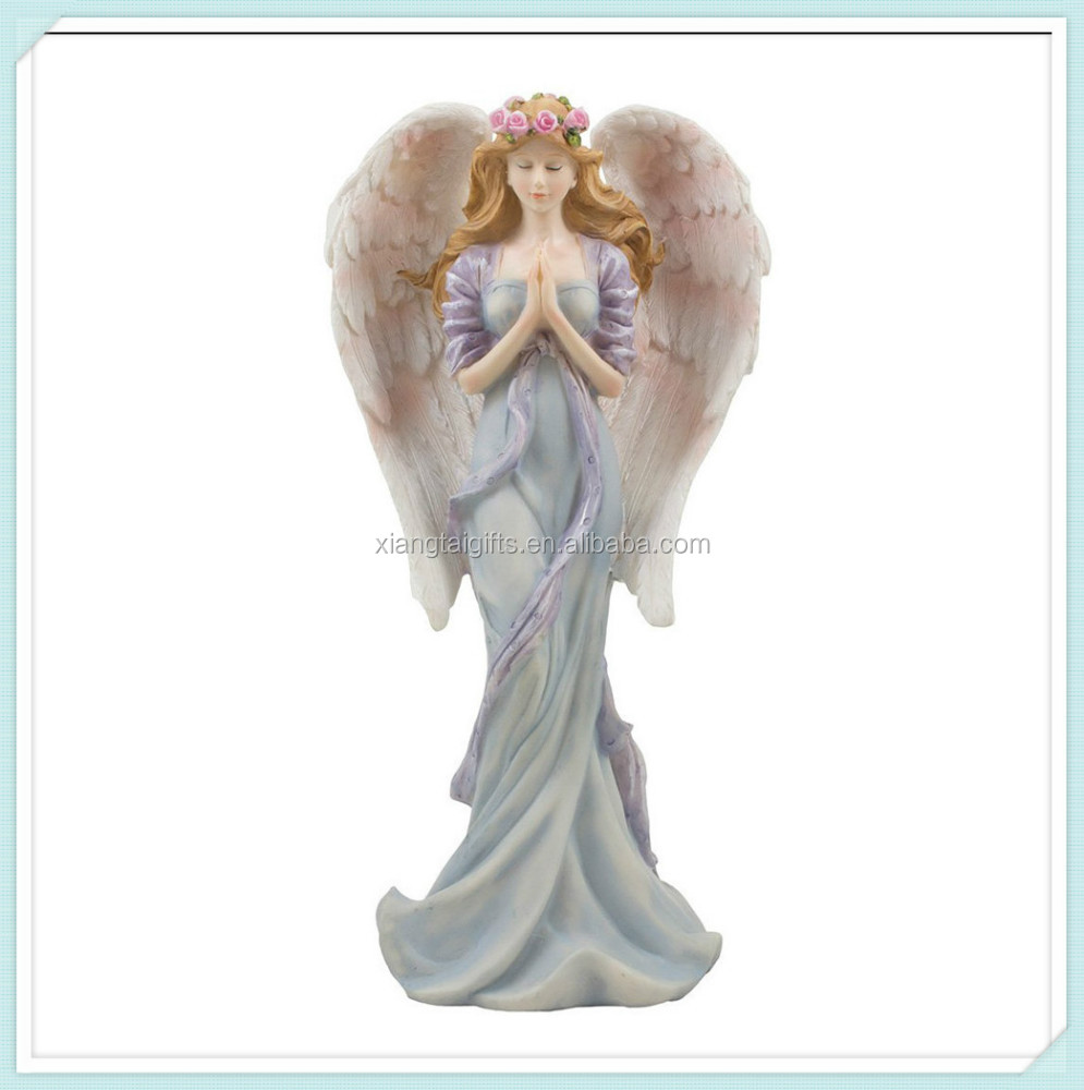 Standing praying resin decorative religious angel statue