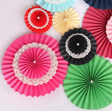35cm Lace Round Wall Hanging Paper Crafts