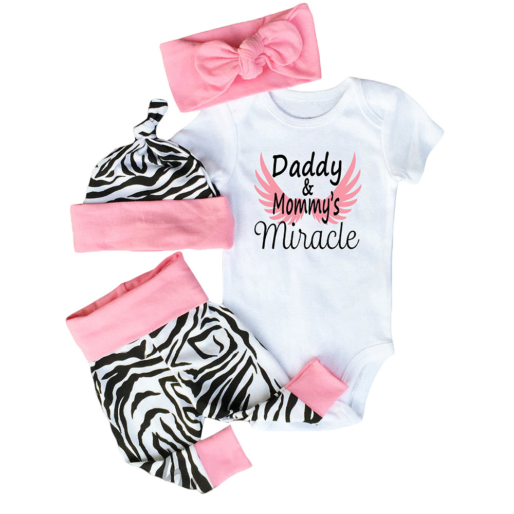 1e3ebe027 Ins Baby Girls Clothes Sets 4pcs Cotton Baby Girl Clothing Set - Buy ...