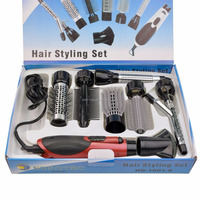 Super Hair Salon Equipments 10 in 1 Professonal Travel 110-240v Hair Styling Set Accept Private Label