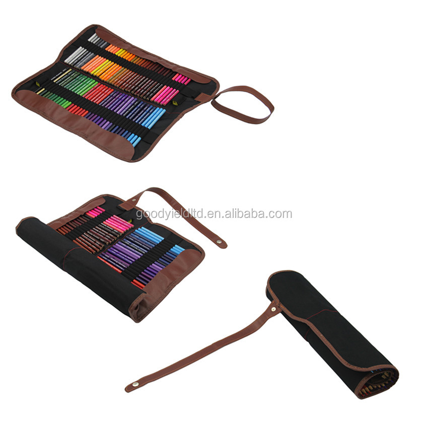2016 New 72 Colour Pencil in Canvas Bag for Artist Drawing