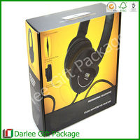 Recycled headphone custom corrugated paper electronic packaging box