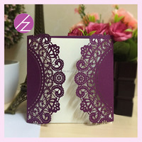 unique custom printing wedding invitation laser cutting doors gift card envelope assorted colours wholesale fancy handmade