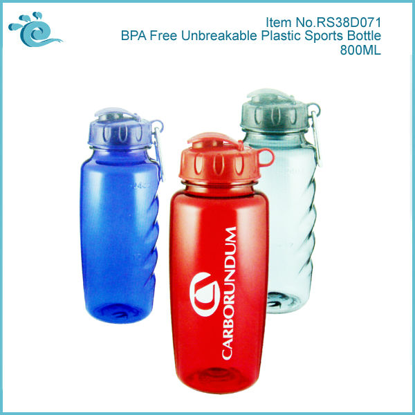 800ML Unbreakable Plastic Water Bottle BPA Free