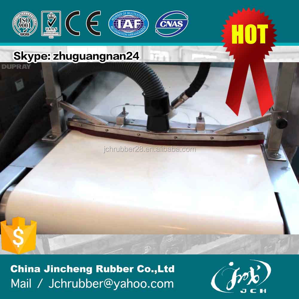 Wholesale Price FDA Standard Heavy Duty Wear <strong>Resistant</strong> White Color Rubber Tobacco Industry Conveyor Belt Rubber Belt