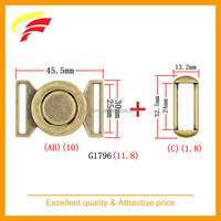 25MM zinc alloy joint buckle , two pieces buckle with metal loop for elastic belt