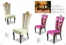 modern new design luxury high back banquet chair with crown