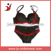 Young girls underwear fancy bra panty, sexy transparent women underwear,Classical bra and panty set will lace