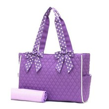 Factory customized cheap quilted diaper bag