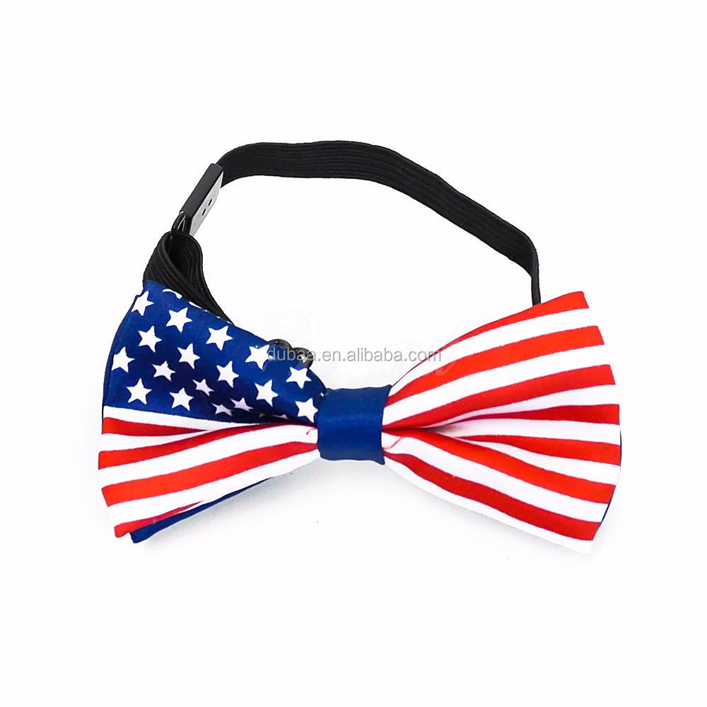 USA Flag Suspender and Bow Tie Set for Baby Toddler Kids Boys Girls Clip-on Suspenders Elastic Adjustable Y Braces