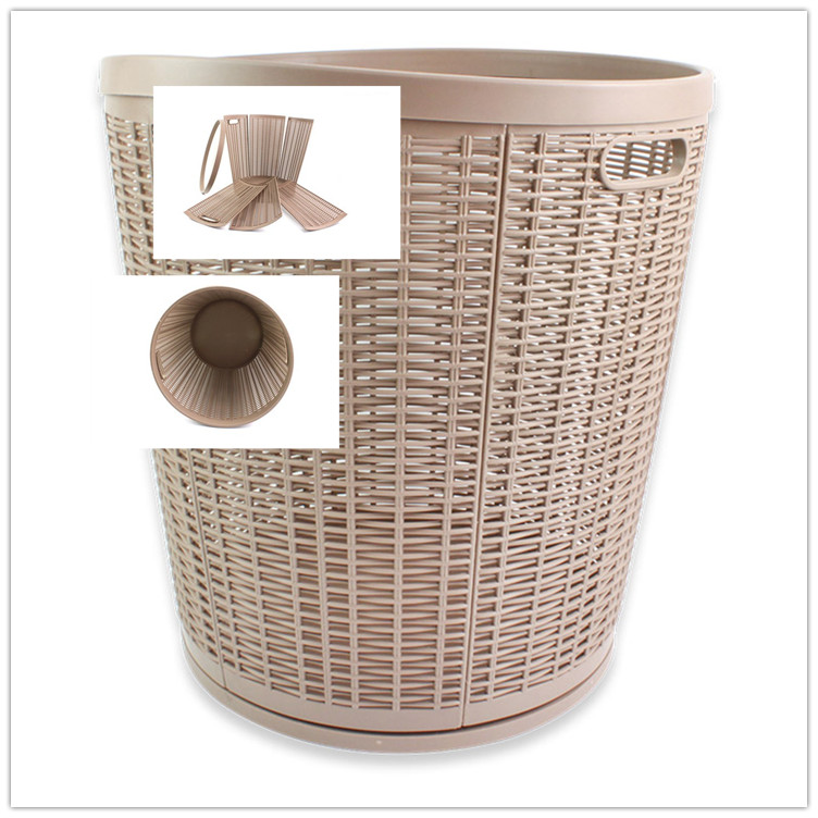 PP oem bathroom collapsible plastic wire laundry basket