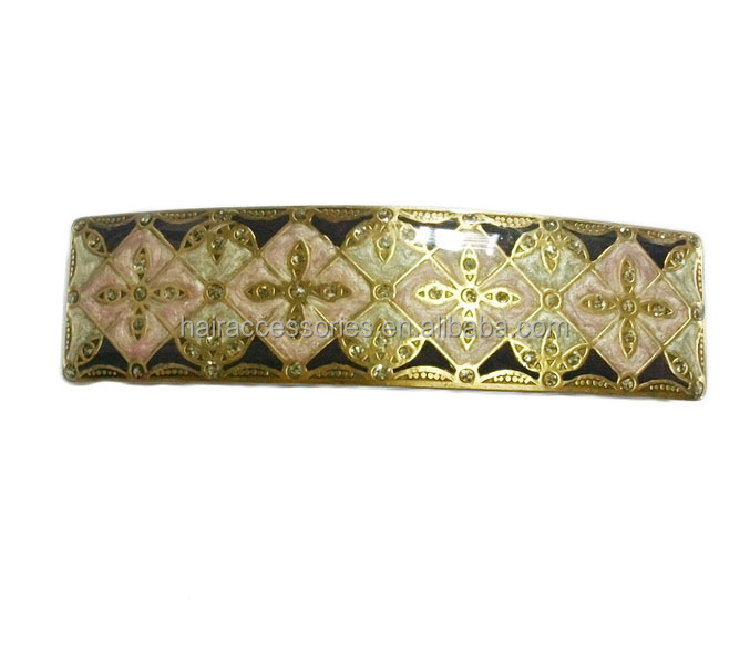 Beautiful metal barrettes - vintage hair clips women hair accessories