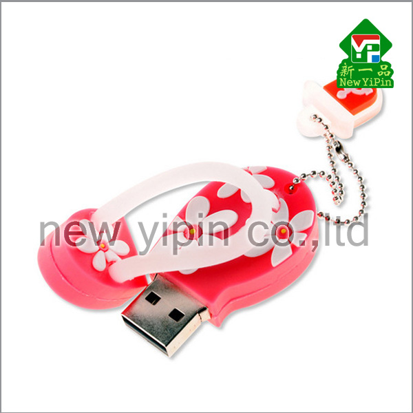New Yipin Soft PVC Products Flower Slippers Shaped USB Flash Disk