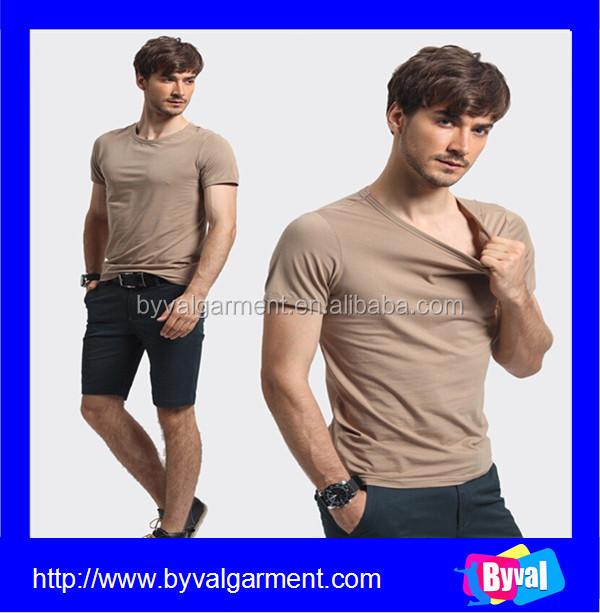 Wholesale cheap price bulk producing plain blank cotton crew neck short sleeve t shirt for men