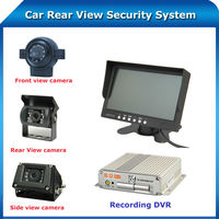 7'' reear view/front view/side view car camera 360 degree view bus security system with dvr