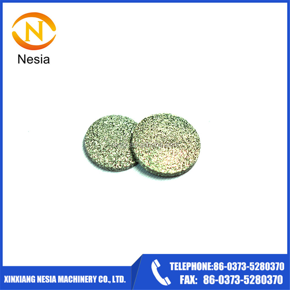 high filtration accuracy porosity sintering bronze stainless steel round disc