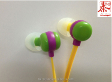 Color Changing Lovely Candy Looking In-ear Style Earphone with Flat Cable