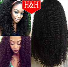 Wholesale cheap 150% density 8A unprocessed brazilian kinky curly 100 human hair lace front wigs with baby hair