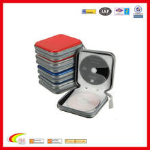 portable handle high grade and cheap price multiple cd holder,large capacity zipper cd wallet storage box bag