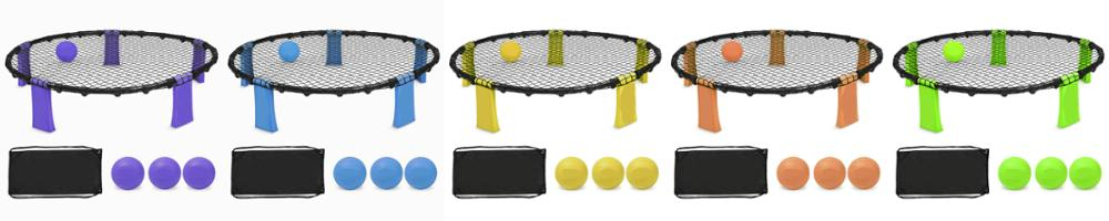Spikeball- Outdoor Sports Spyderball Game As Seen On Shark Tank TV - 3 Ball Set Spikeball