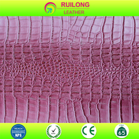 embossed artificial crocodile skin