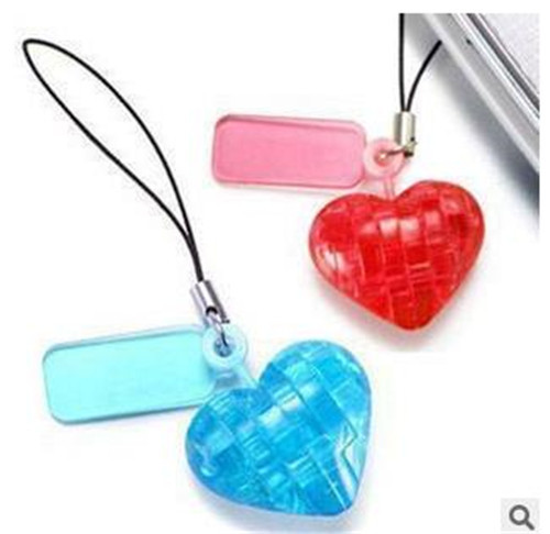 baby toy, 2015 free 3d model animations DIY love shape pendant jigsaw puzzle kids toys educational crystal puzzle free shipping