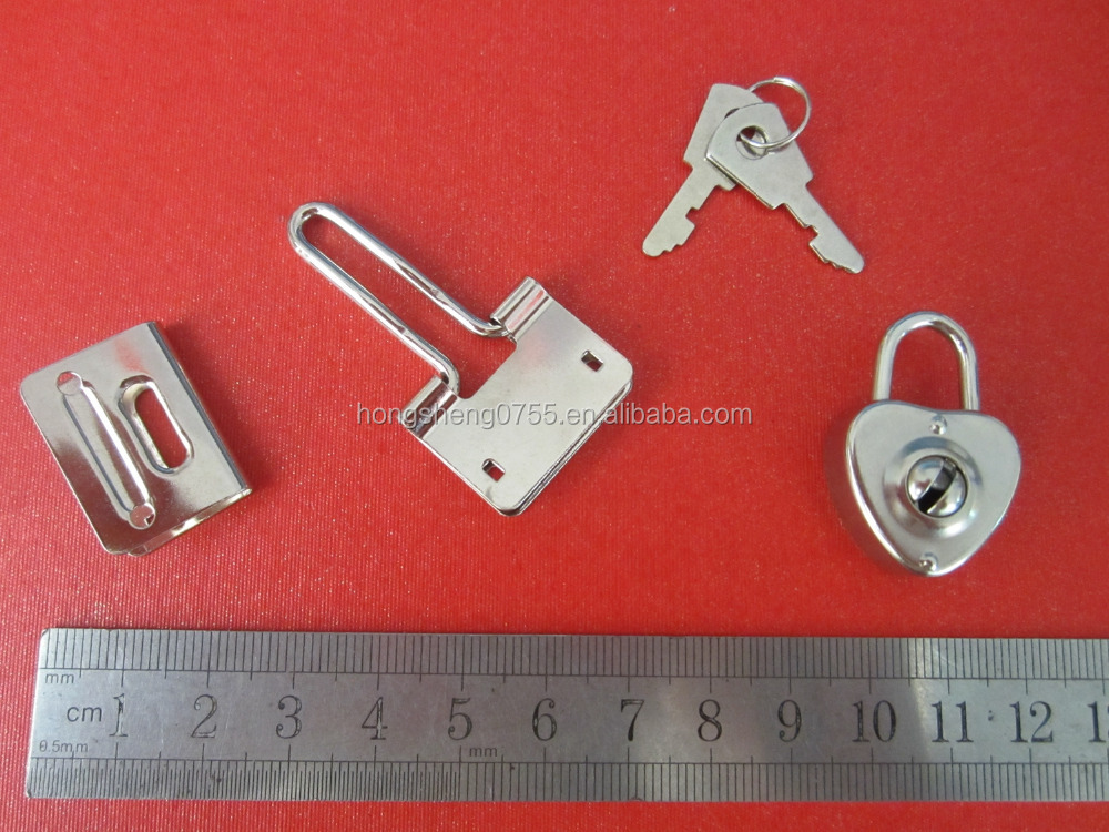 Factory Supply Heart Shape Mini Padlock For Diary Book