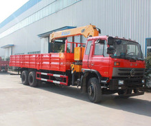 Dongfeng 6x4 flatbed Truck with 10 Ton Crane Telescopic boom 12 ton Truck Mounted Crane