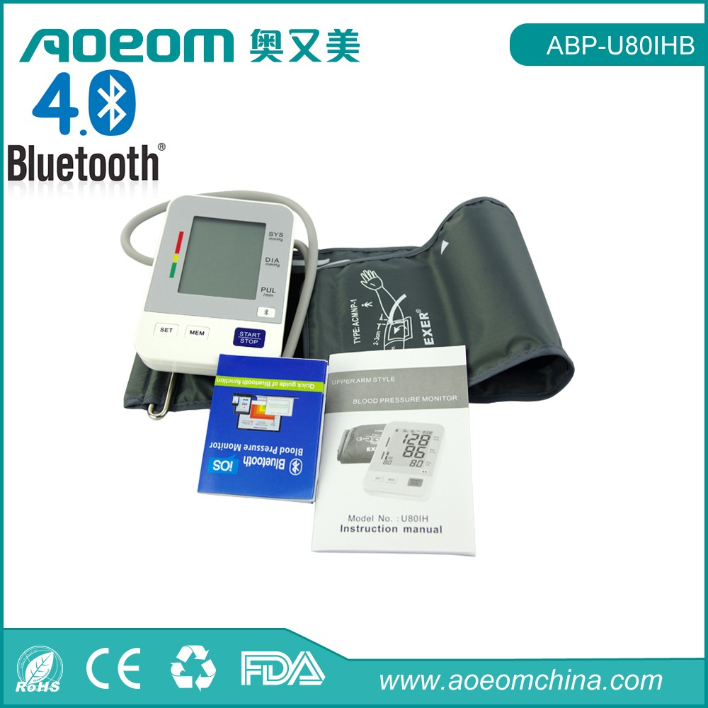 Bluetooth medical digital blood pressure monitor with pulse oximeter